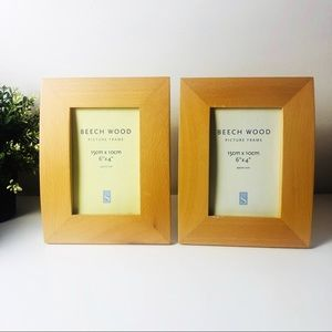 2 Wooden Curved Style Frame for 15cm x 10cm Photos